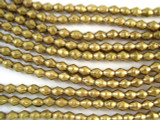 Brass Bicone Metal Beads 7mm - Ethiopia (ME40)
