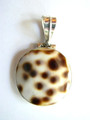 Sterling Silver & Cowrie Shell Pendant 25mm (AP615)