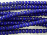 Cobalt Blue White Heart Trade Beads 5-6mm (AT31)