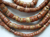 Old Bauxite (Pipestone) Disc Beads 4-5mm (OS8206)