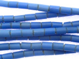 Blue Glass Fulani Funeral Beads 8mm (AT90)