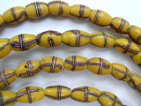 Old Yellow French Cross Trade Beads 10mm - Africa (AT5612)