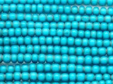 Turquoise White Heart Trade Beads 6-7mm (AT3765)