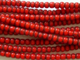 Red White Heart Trade Beads 4-6mm (AT3760)