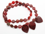 Old Arabic Red Glass Prayer Beads (AT38)