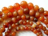 Graduated Round Carnelian Beads 5-10mm - Africa (OS69)