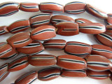 Old Brick Brown Watermelon Beads (AT208)