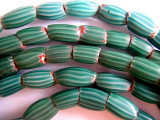 Old Turquoise Watermelon Chevron Beads (AT206)