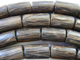 Coconut Wood Cylinder Beads 18mm - Indonesia (WD734)