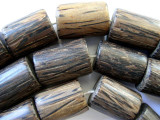 Coconut Wood Cylinder Beads 25mm - Indonesia (WD733)