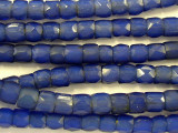 Faceted Russian Blue Trade Beads 3-6mm - Africa (RF211)