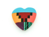 Inlaid Southwest Heart Bead - Pendant (AP730)
