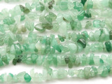 "Green Aventurine Chip Gemstone Beads - 32"" strand (GS502)"