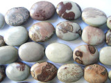 Paintbrush Jasper Oval Tabular Gemstone Beads 16mm (GS558)