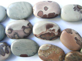 Paintbrush Jasper Oval Tabular Beads 22mm (GS559)