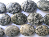 Granite Large Oval Tabular Gemstone Beads 24mm (GS556)