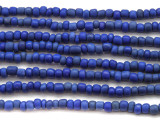 "Cobalt Blue Glass Beads - 44"" strand (JV9029)"