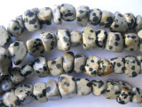 Dalmatian Jasper Blocky Nugget Gemstone Beads (GS567)