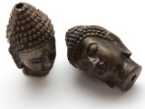 Buddha Amulet - Antiqued Brass 48mm (AP802)
