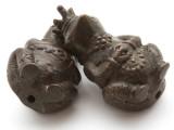 Royal Frog Brass Pendant - Indonesia 46mm (AP812)