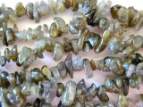"Labradorite Chip Gemstone Beads - 34"" strand (GS104)"