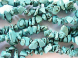 "Turquoise Magnesite Chip Gemstone Beads - 34"" strand (GS110)"