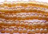 Crow Beads - Transparent Pale Peach Glass 9mm (CROW08)