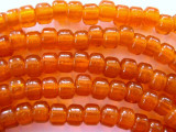 Crow Beads - Transparent Orange Glass 9mm (CROW13)