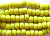 Crow Beads - Bright Yellow Glass 9mm (CROW15)