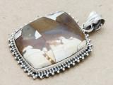 Sterling Silver & Jasper Pendant 34mm (AP1086)