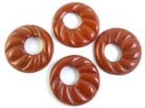 Poppy Jasper Donut Pendant 50mm (AP1093)