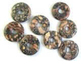 Leopardskin Jasper Donut Pendant 22mm (AP1107)