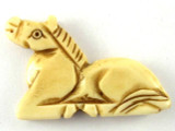 Carved Horse Bone Pendant 37mm (AP1220)