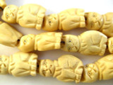 Grumpy Cat Carved Bone Beads 30mm (B9035)