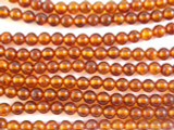 Genuine Amber Round Beads 5mm (AB13)