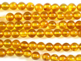 Genuine Amber Round Beads 6mm (AB27)