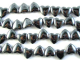 Hematite Heart Gemstone Beads 11mm (GS2723)