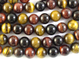 Mixed Tiger Eye Round Gemstone Beads 14mm (GS2742)