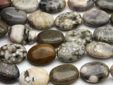 Ocean Jasper Oval Tabular Gemstone Beads 18mm (GS2768)