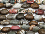 Ocean Jasper Oval Tabular Gemstone Beads 14mm (GS2771)
