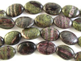 Purple Silver Line Jasper Oval Tabular Gemstone Beads 18mm (GS2805)
