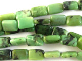Chrysoprase Rectangular Tabular Gemstone Beads 12mm (GS2809)