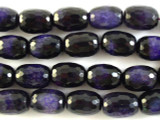Purple Fire Agate Faceted Barrel Gemstone Beads 17mm (GS2817)