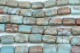 Aqua Terra Jasper Rectangular Tabular Gemstone Beads 18mm (GS2828)