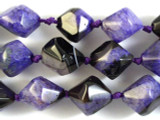 Purple Agate Bicone Gemstone Beads 20mm (GS2839)