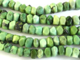 Chrysoprase Faceted Rondelle Gemstone Beads 12mm (GS2841)