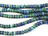 Azurite Rondelle Gemstone Beads 6mm (GS2843)