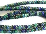 Azurite Rondelle Gemstone Beads 4mm (GS2844)