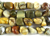 Red Creek Jasper Nugget Gemstone Beads 8-12mm (GS2849)
