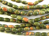 Unakite Rice Gemstone Beads 6mm (GS2874)